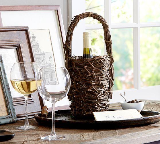 Grapevine Wine Bottle Basket