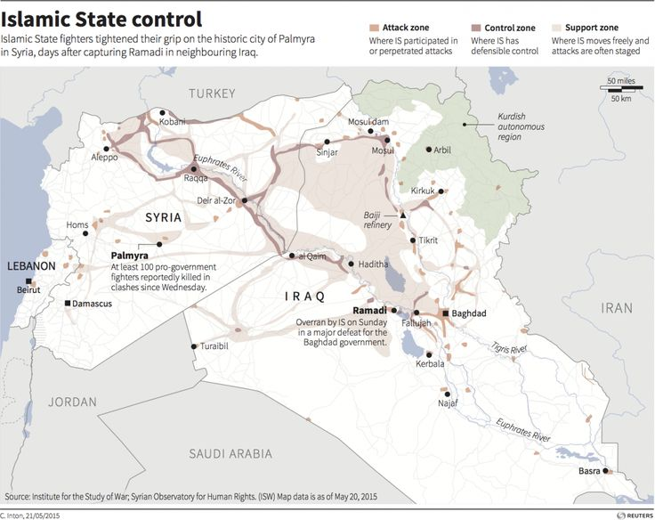 ISIS Islamic State Iraq Syria map
