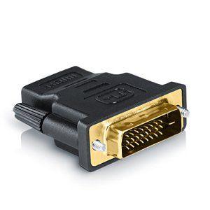 CSL – adaptateur HDMI vers DVI | fiche DVI mâle (24+1) vers prise HDMI femelle | HD TV 1080p | 3D Ready | vidéoprojecteur PS3 etc.