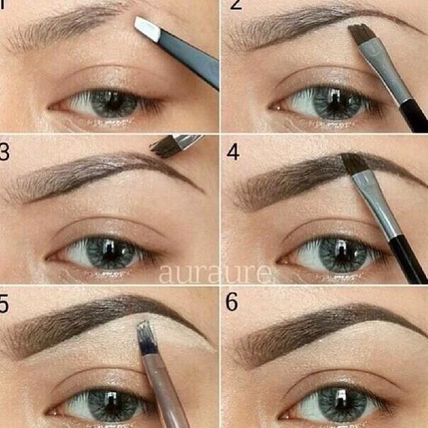 Me pongo hacer esto, se me va toda la mañana…….Perfect eyebrow diy