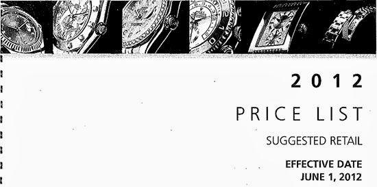 Watchik: Rolex 2012 price list