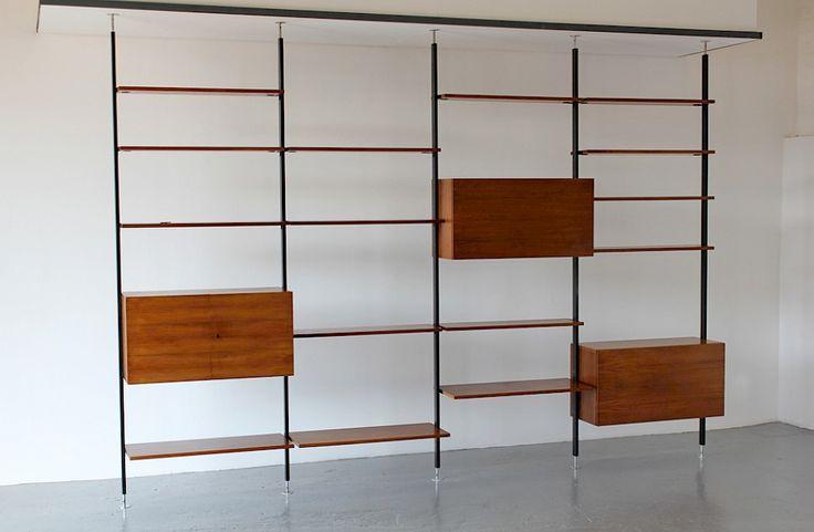 Mid Century Modern Walnut Standing System / Shelf by Ulrich P. Wieser for Bofinger_1