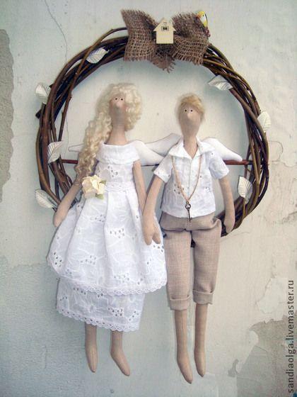 Совет да любовь!!!. Ангелы хранители молодожёнов. Оберегают семью от всех невзгод. Отличный подарок на свадьбу.  Спасибо за покупку!!!