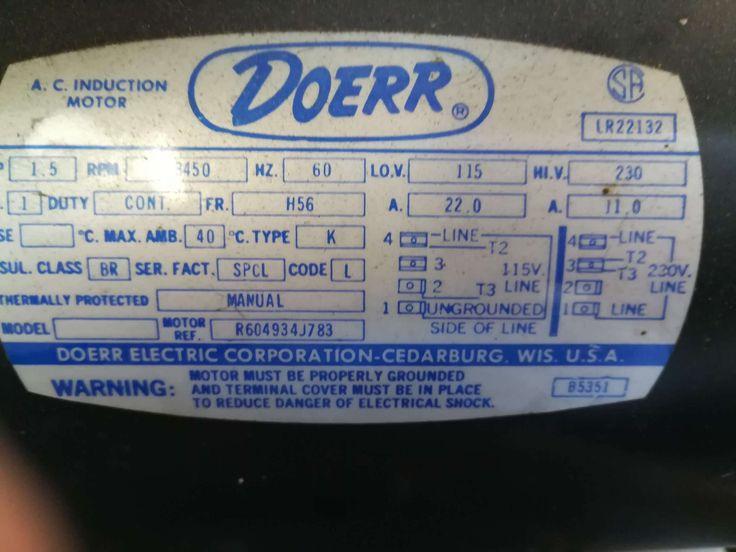 18 Doerr Electric Motor Lr22132 Wiring Diagram Electric Motor Diagram Coding