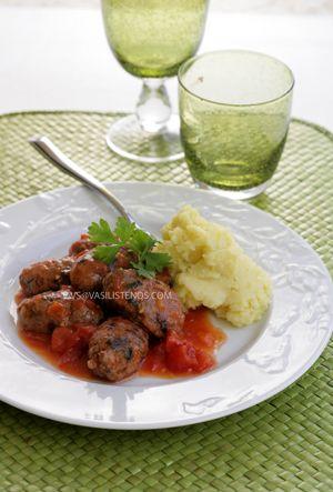 Meatball Sausages Smyrna Style / Soutzoukakia Smyrneika | Greek Food - Greek Cooking - Greek Recipes by Diane Kochilas