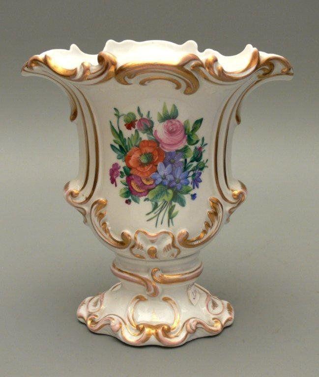 Berlin (KPM) Rococo style Porcelain vase ~ White porcelain ...