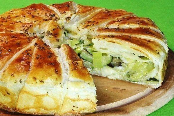Рецепты Вкусных Домашних Блюд: Сочный овощной пирог с сыром