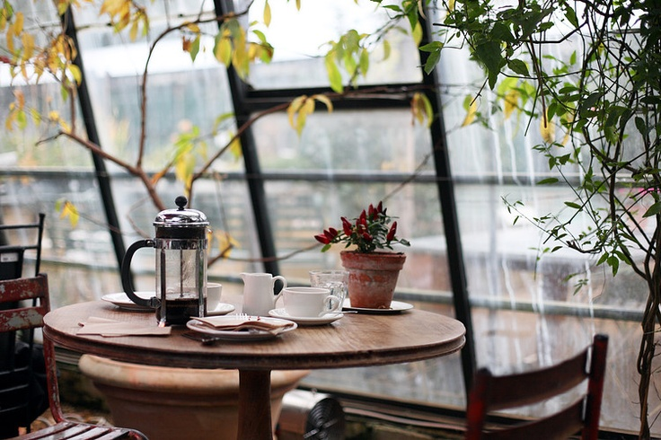 How relaxing does this look?: Teas For Two, Big Window, French Press, Breakfast Nooks, Cafe, Mornings Coff, Places, Coff Nooks, Coff Break