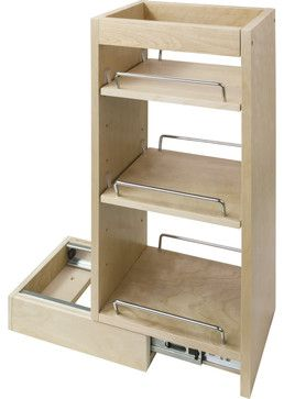 "Wall Cabinet Pull Out.  8"" x 10-1/2"" x 24"". traditional-kitchen-drawer-organizers"