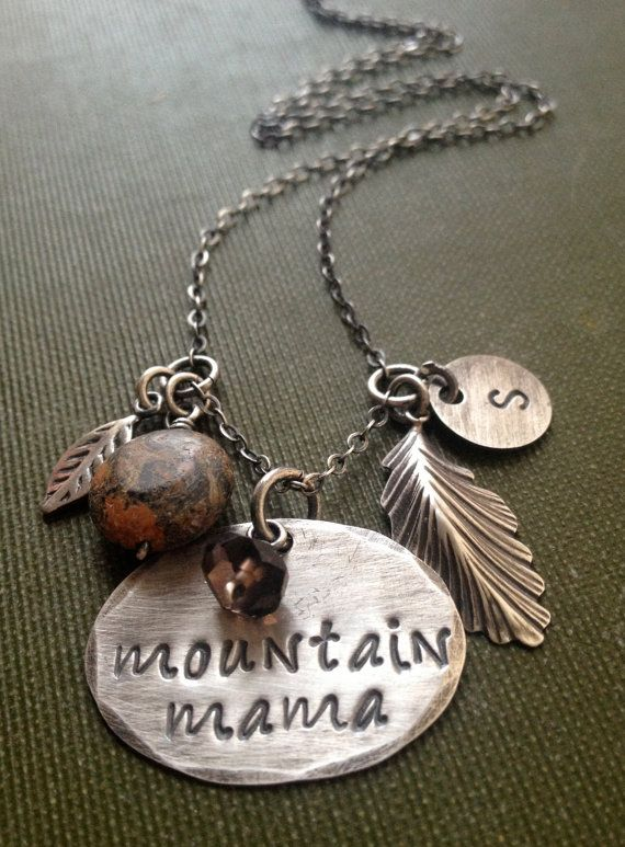 Mountain Mama Necklace West Virginia Jewelry by JewelryByDawnya, $40.00
