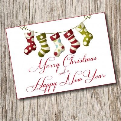 Instant Download Christmas Card