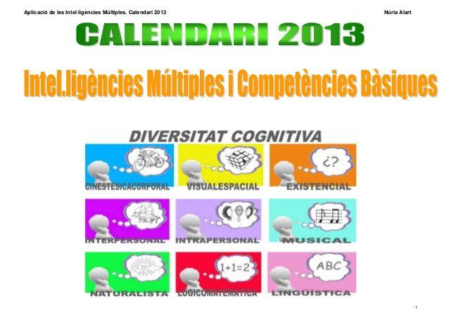 calendari de les intel·ligències múltiples