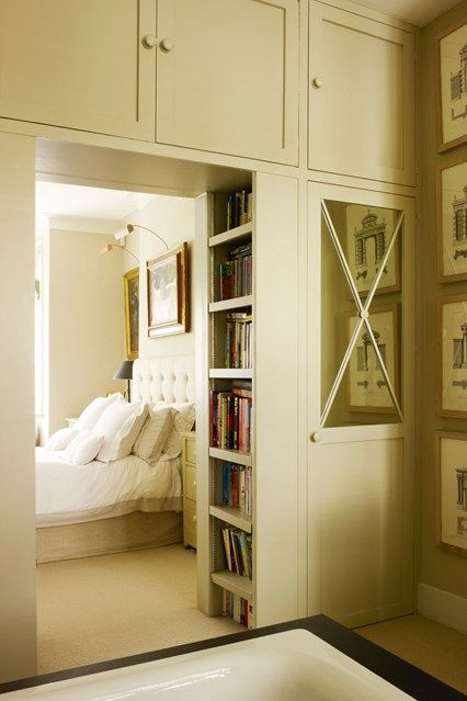 Stylish fitted cupboards in Bee Osborn's London home, and some tips on designing them properly. Via House & Garden.