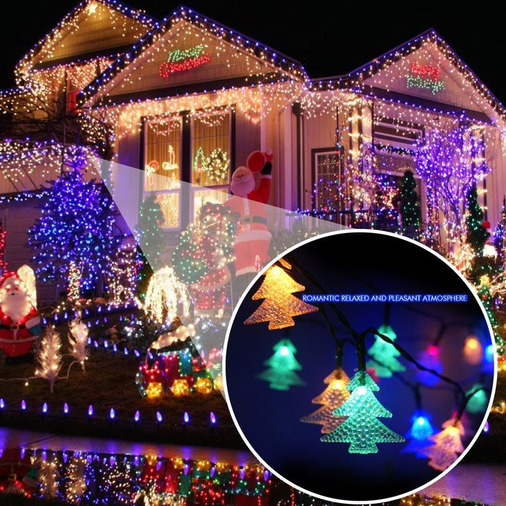 680 pinterest amazon echtpowertm solar powered christmas tree light with 60 mozeypictures Images