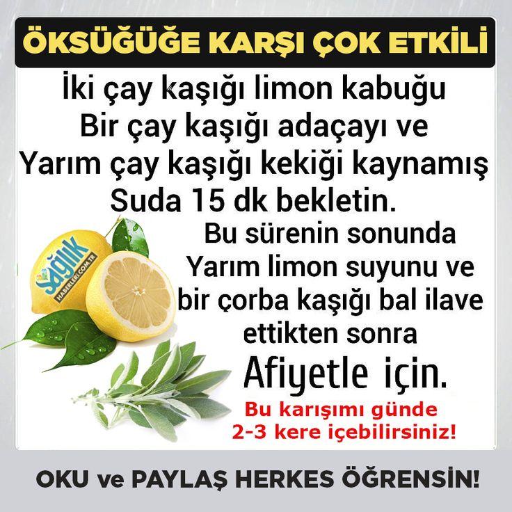 Öksürüğe karşı çok etkili bir çay.. #öksürük #limon #bitkiselçay #sağlık #sağlıkhaberleri @saglikhaberleri