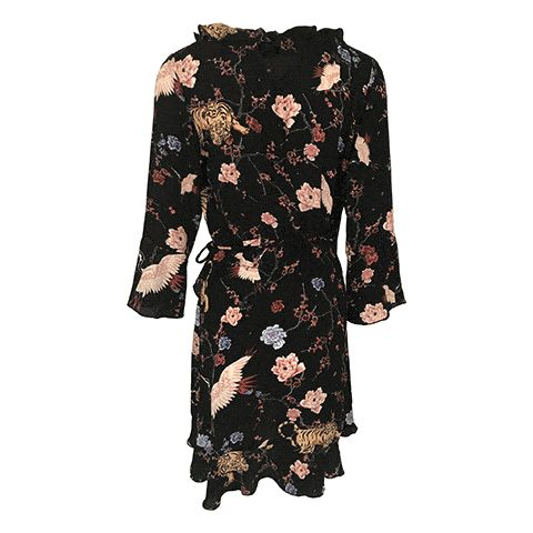 Neo Noir - Fanny Printed Dress - Sort