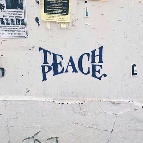 """We must learn peace and teach peace, so we can be peace and live in peace"" - Mattie Stepanek ""If we are to teach real peace in this world, and if we are to carry on a real war against war, we shall have to begin with the children"" - Mahatma Ghandi #spiritualgraffiti"