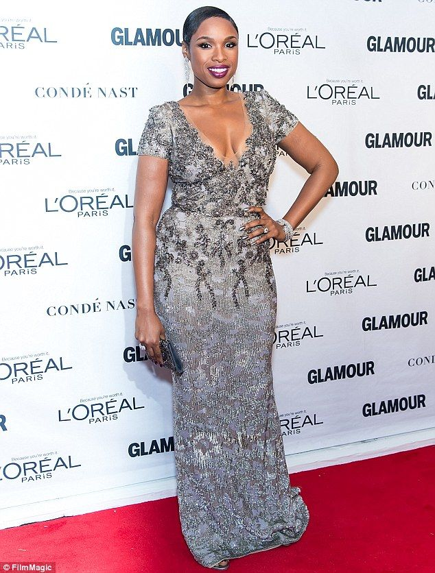 Opening up: Jennifer Hudson - pictured at the Glamour's 25th Anniversary Women Of The Year Awards in New York on Monday - discussed the tragic family triple murder back in 2008 in a recent interview with CBS News