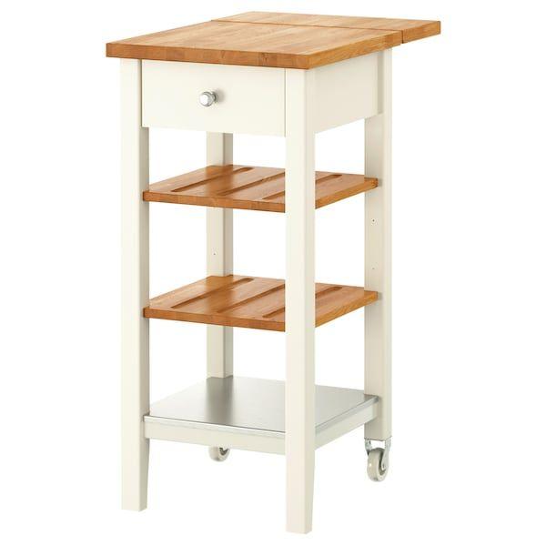 STENSTORP Kitchen cart - white, oak 17 3/4x16 7/8x35 3/8 ...
