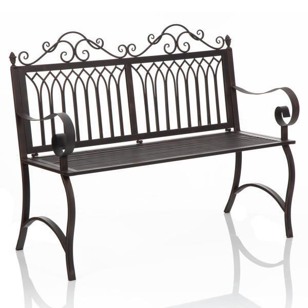 New 2 Seater Outdoor Black Cast Iron Bench Seat Great For