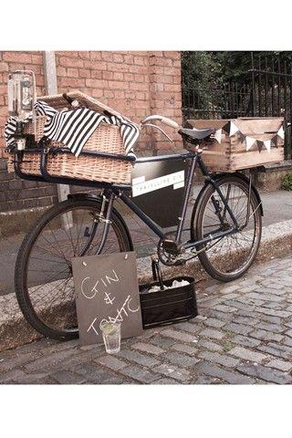 Food bike cargueira com dois cestos