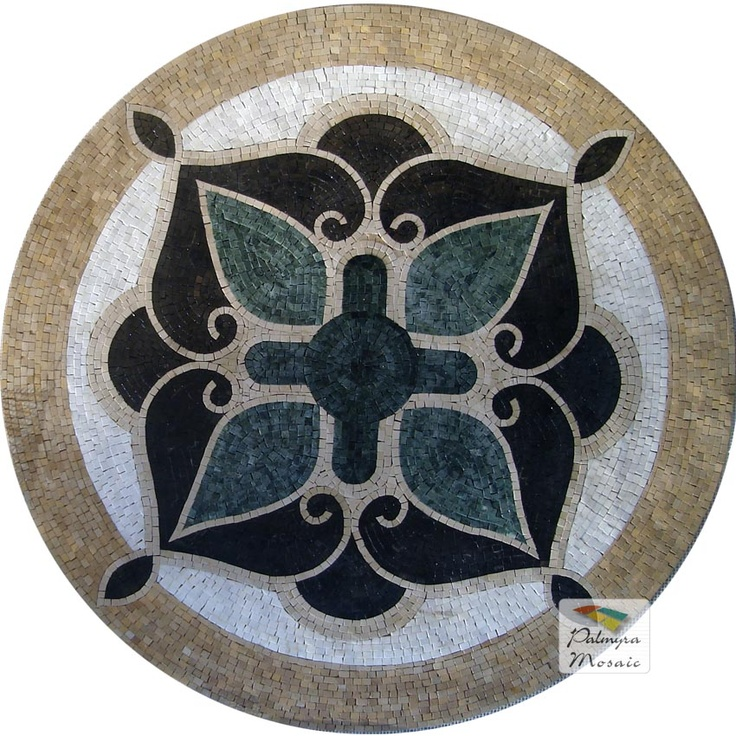 MD013 Marble Mosaic Medallion