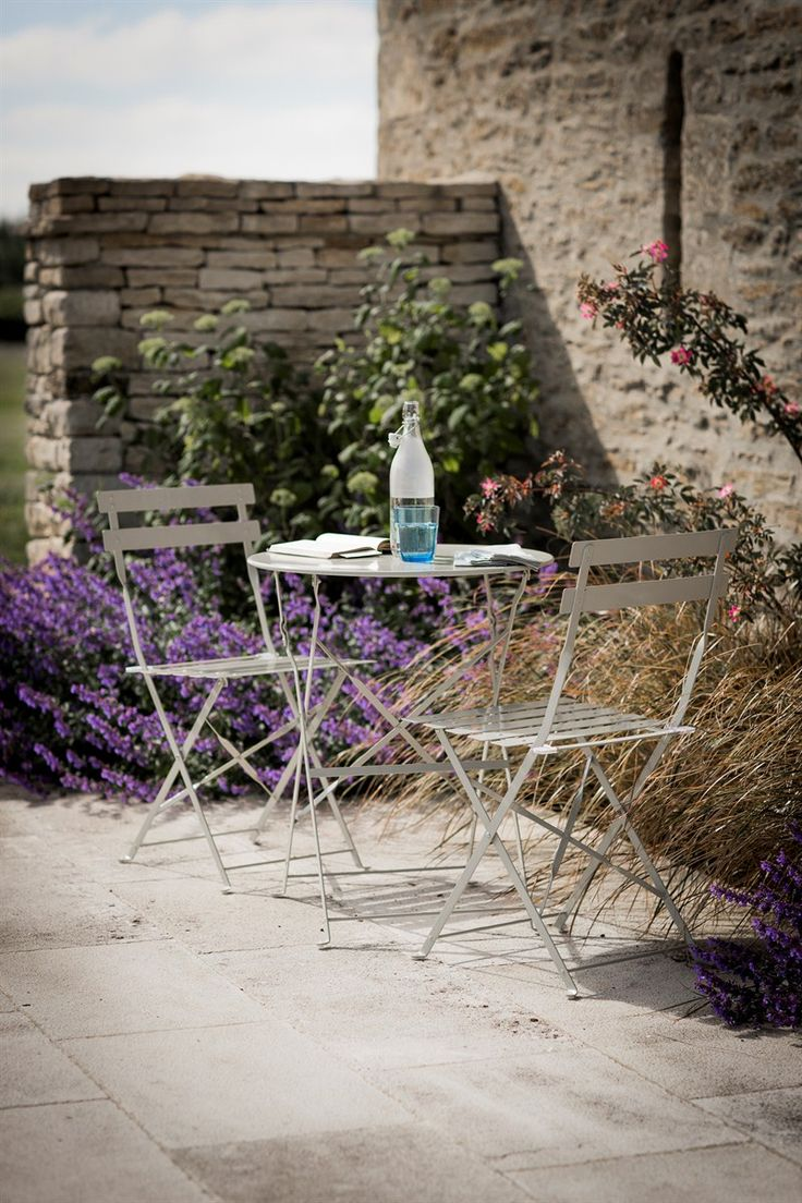 Rive Droite Bistro Set of Table and 2 Chairs - Clay