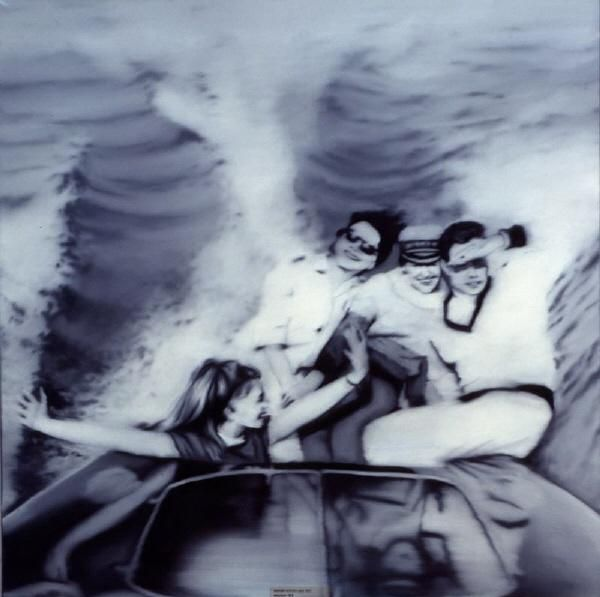 Gerhard Richter (German: 1932) - Motorboat, 1965 - Style: New European Painting