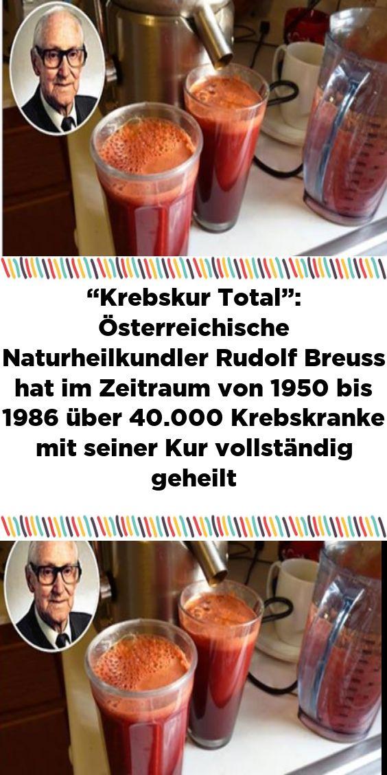 """""""Krebskur Total"""": Österreichische Naturheilkundler Rudolf Breuss hat im Zeitraum von 1950 bis 1986 ü"""