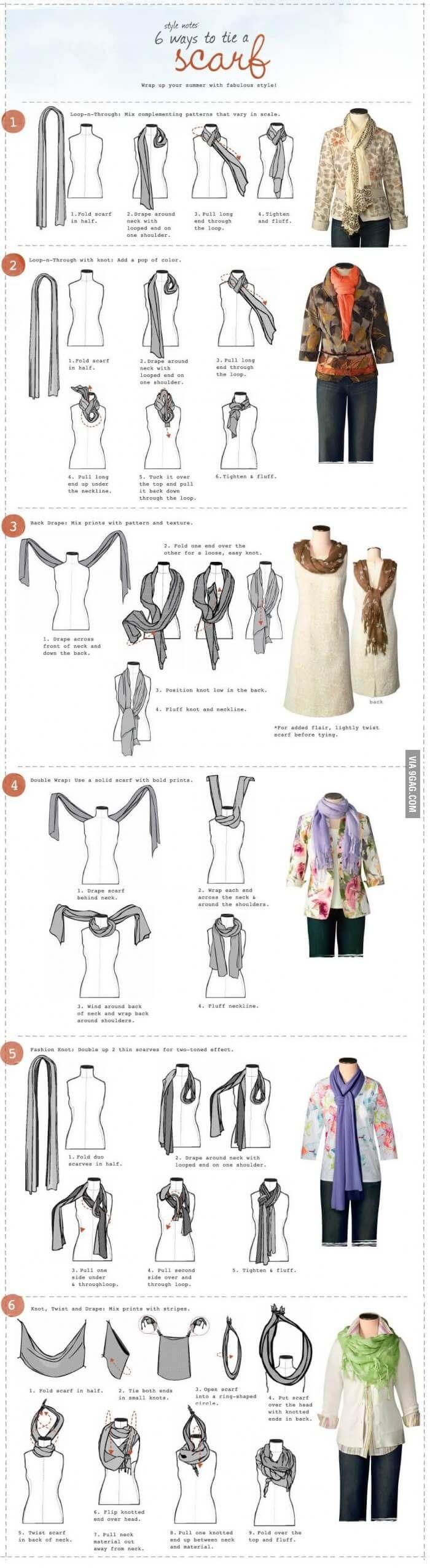 Maneiras para usar um lenço