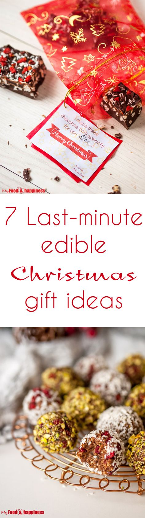If you need some last-minute Christmas gift ideas, I have put together a list of 7 truly special edible Christmas treats you can make for your friends and family! Includes some healthy vegan treats as well as free from processes sugar!