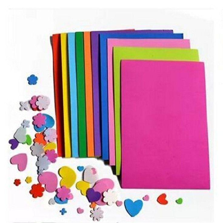 10pcs/lot DIY Paper Sponge Foam Paper Fold Scrapbooking Paper Craft for kids Gift Mixed color