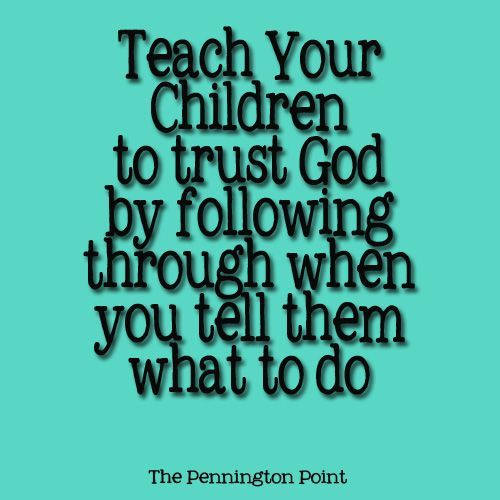 Teaching your kids to trust God