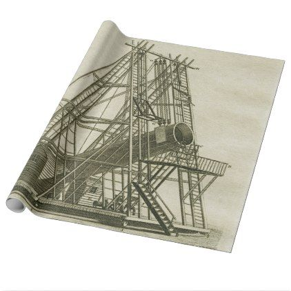 Telescope Antique SCIENCE EQUIPMENT 18TH CENTURY Wrapping Paper - antique gifts stylish cool diy custom