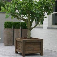 Meer dan 1000 idee n over grote plantenbakken op pinterest planters plantenbakken en tuinieren - Buiten terras model ...