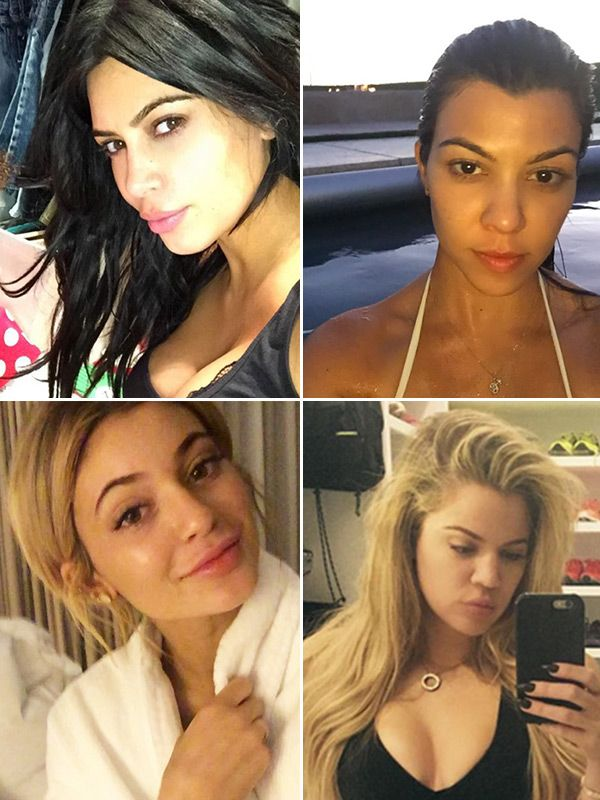 The Kardashian and Jenner ladies are known for always showing off their glam hair and makeup looks, but they also love to show off their natural faces!