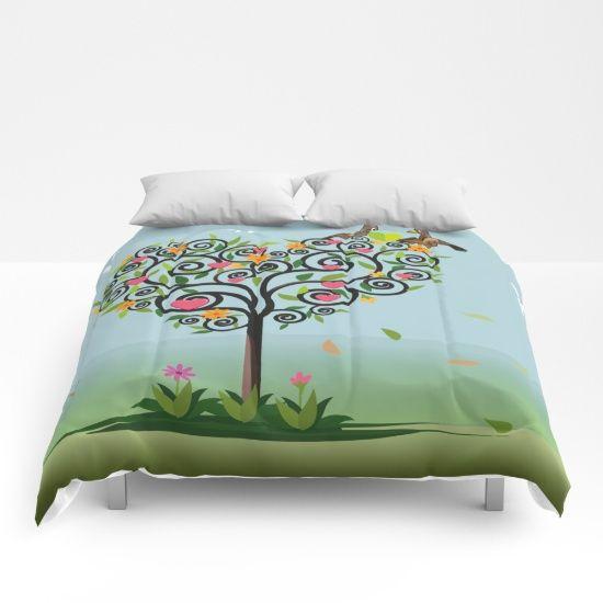 Bird in love Comforters