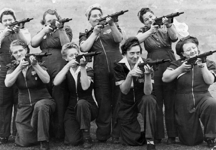 In 1942, these grandmothers at a Toronto plant producing Sten guns were an example of how Torontonians were devoted to the war effort.