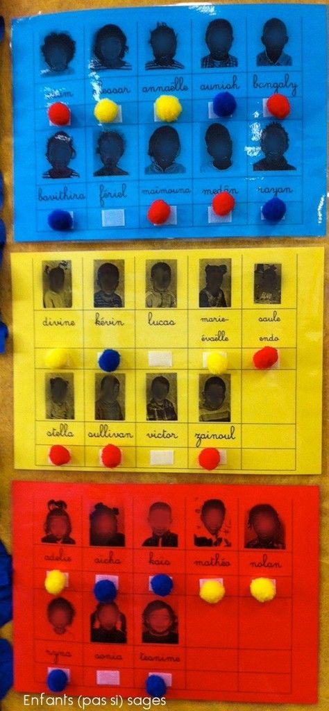Voici à quoi servent les pompons &chaudoudou& (hum, hum pompons du commerce !!!!) dans la classe des enfants (pas si) sages.