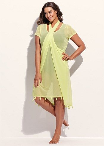 Jamaica Mesh Dress #plussize #curvy #takingshape