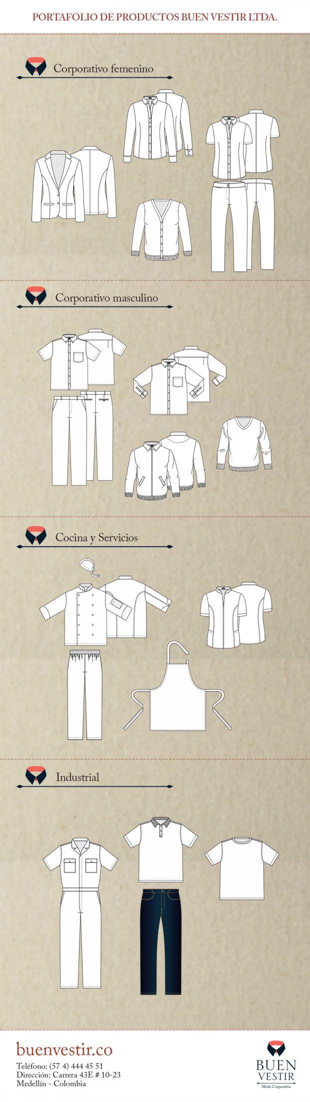 Portafolio de Productos Buen Vestir - Moda Corporativa Medellín - Colombia. 2016.