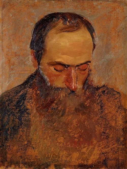 Félix Vallotton (Swiss, 1865-1925), Retrato de Edouard Vuillard, 1893, óleo…