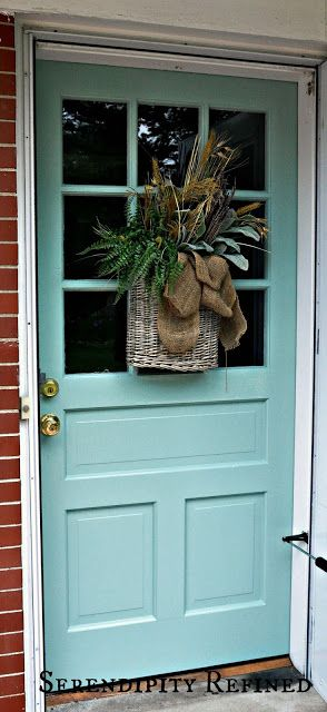Serendipity Refined: Turquoise Painted Wood Exterior Doors