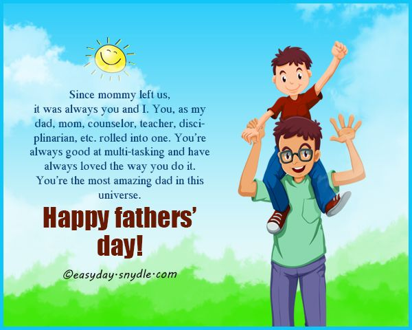 Fathers Day Messages, Wishes and Fathers Day Quotes for 2018 - Easyday...