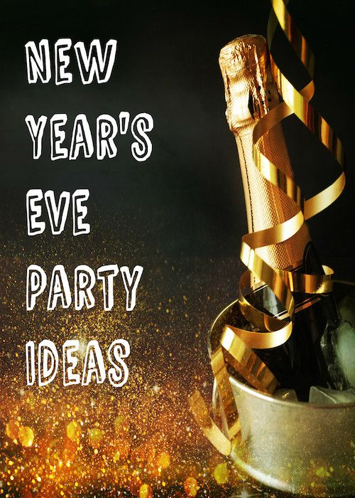 New Year's Eve Party Ideas:  How many of you are you all dressed up with nowhere to go? Then check out these New Years Eve party ideas to make your night one to remember. #nye #newyearseve #canvasfactory