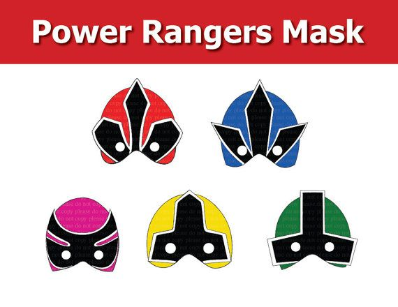 Instand DL - Power Rangers Mask (Printable)
