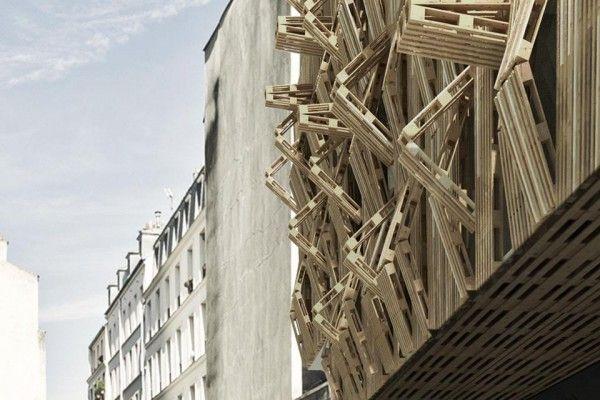 Paris's Next Readymade: A Wood Pallet Facade by Stephane Malka