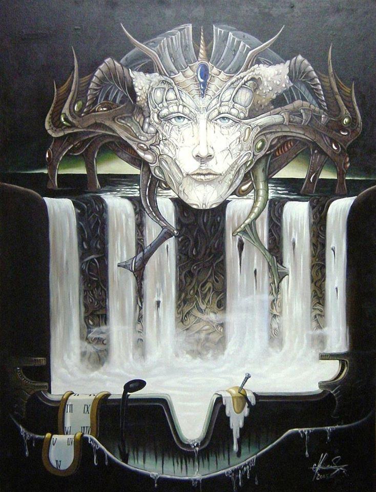 """""""Medusa"""" - Oil on canvas. #art #painter #painting #surrealism"""