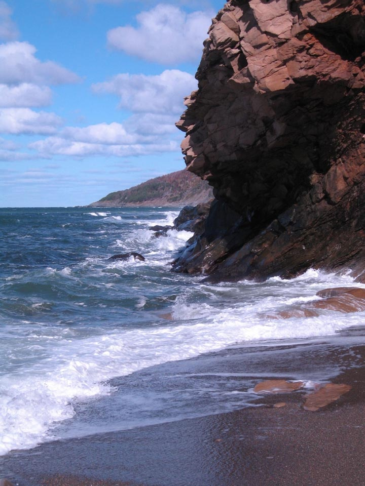 At sea level - Cape Breton Island (Inverness County) Nova Scotia - Canada.