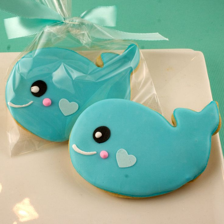 Whale Cookies~                               Sea Party  12 Decorated Sugar Cookie by TSCookies, $33.00, blue